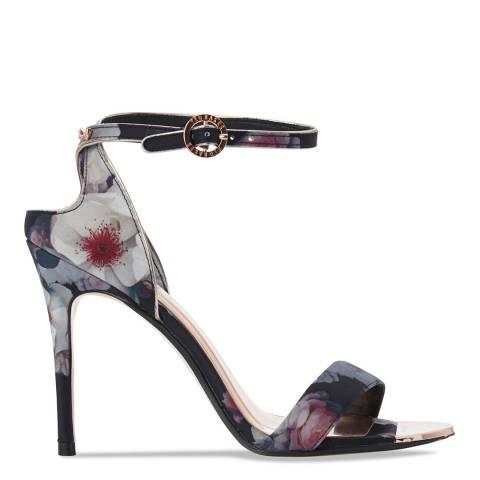 Ted Baker Black Printed Mirobep Stiletto Sandals