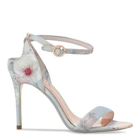 Ted Baker Grey Printed Mirobep Stiletto Sandals