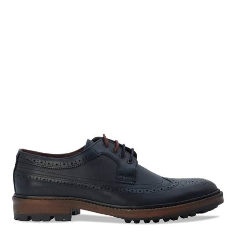 Ted Baker Dark Blue Leather Caso Brogues