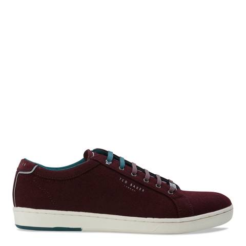 Ted Baker Dark Red Wool Minem 3 Sneakers