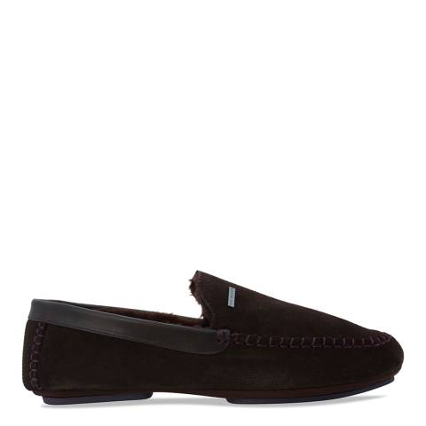 Ted Baker Brown Suede Moriss 2 Slippers