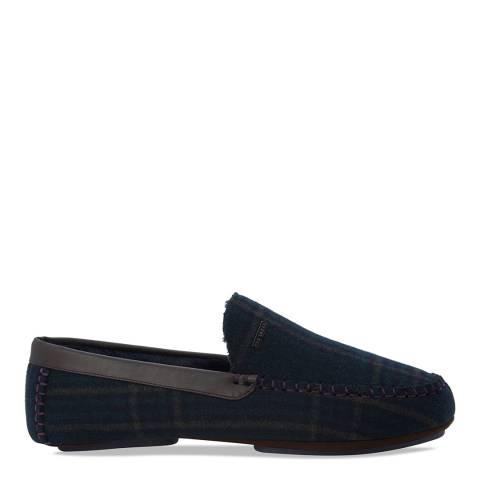 Ted Baker Blue & Green Plaid Moriss 2 Slippers