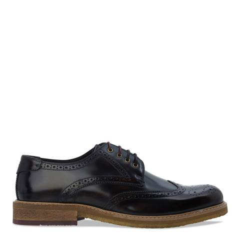 Ted Baker Dark Red High Shine Leather Prycce Brogues