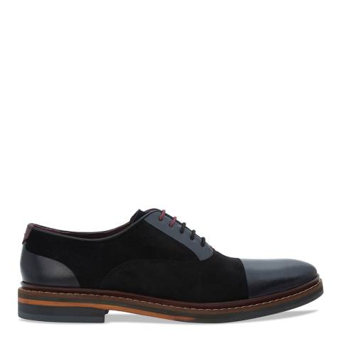 Ted Baker Black Leather & Suede Saskat Lace Up Oxford Shoes