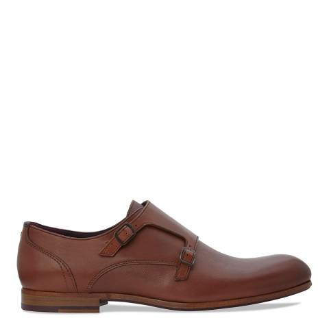 Ted Baker Tan Brown Valath Monk Strap Shoes