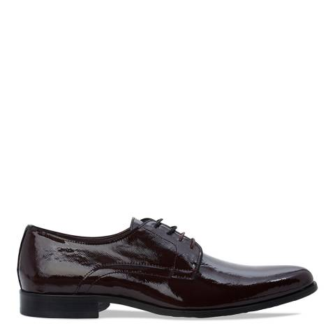 Ted Baker Burgundy Patnet Leather Aundre Lace Up Gibson Shoes