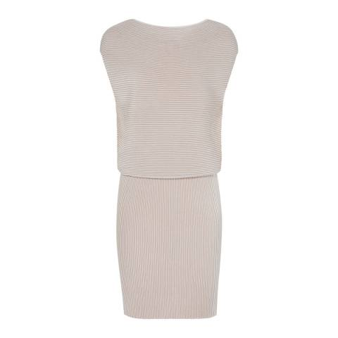 Reiss Nude Simone Ripple Stitch Dress