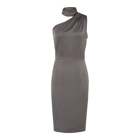 Reiss Stone Grey Ennie Cocktail Dress