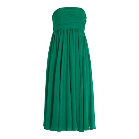 Reiss Emerald Athena Strapless Dress