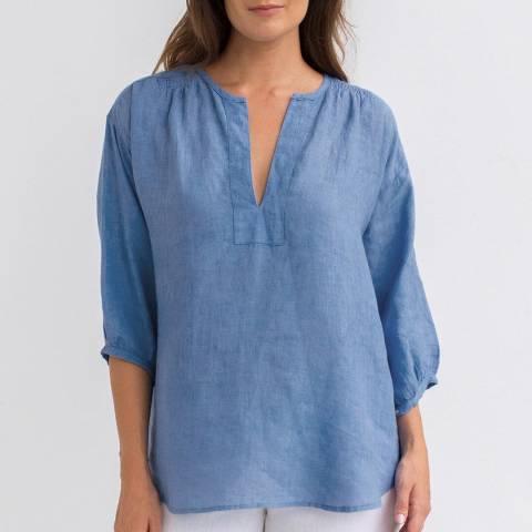 Aspiga Marina Blue Rafaela Linen Blouse