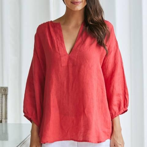 Aspiga Red Rafaela Linen Blouse
