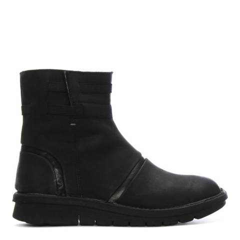 Khrio Black Suede Rugged Ankle Boots