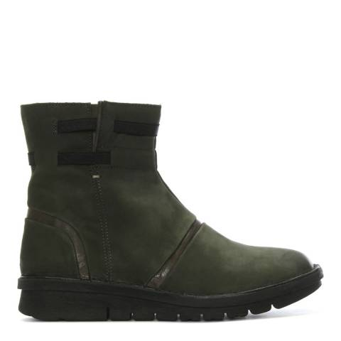 Khrio Khaki Suede Rugged Ankle Boots