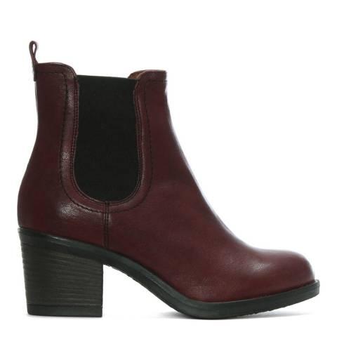 Morichetti Burgundy Leather Chelsea Boots