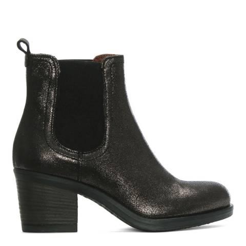 Morichetti Grey Metallic Leather Chelsea Boots