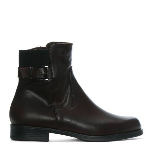 Morichetti Brown Leather Elasticated Ankle Boots
