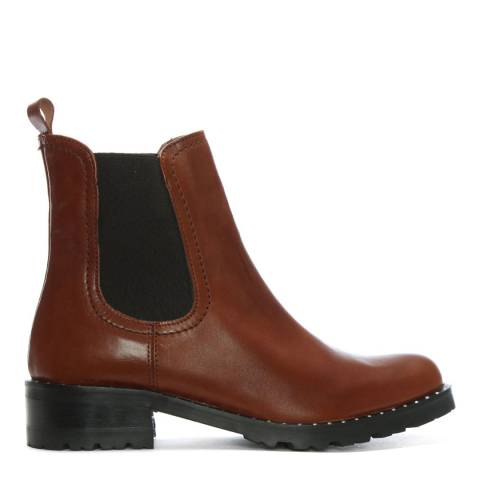 Lamica Cognac Leather Chelsea Boots