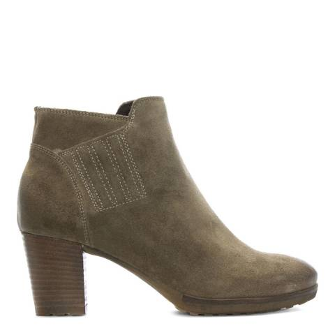 Manas Taupe Suede Heeled Ankle Boots