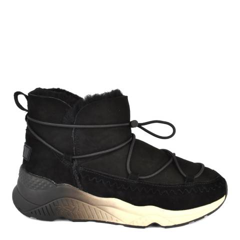 ASH Black Suede Mitsouka Shearling Trainers