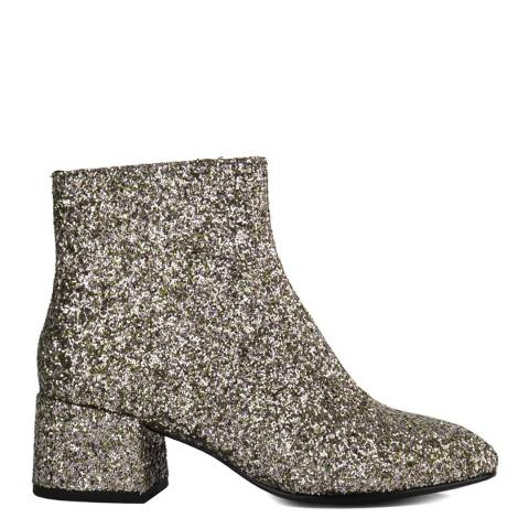 ASH Green Tea Glitter Galaxi Ankle Boots