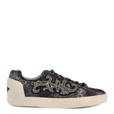 ASH Grey Bistro Suede Printed Nymphea Trainers