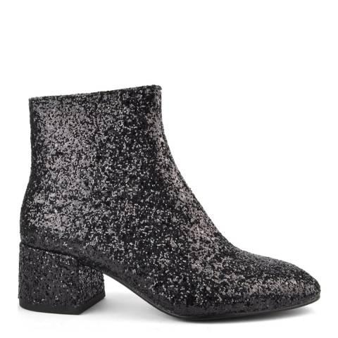 ASH Black Glitter Dragon Galaxi Glitter Ankle Boots