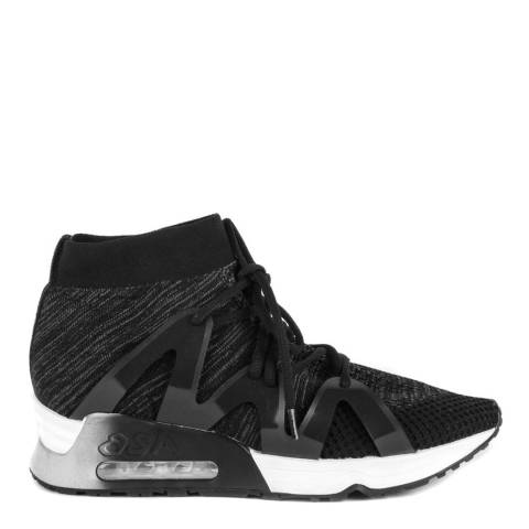 ASH Black Mesh Knit Look Lace Trainers