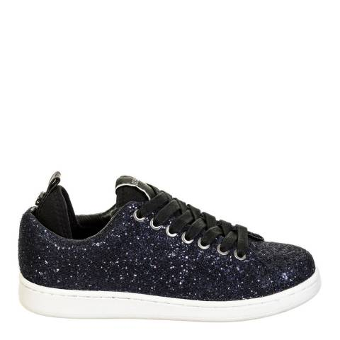 Guess Navy Glitter Heel Detail Low Trainers