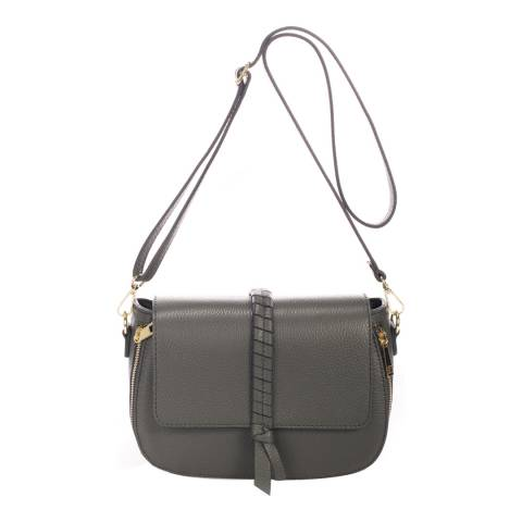 Lisa Minardi Grey Leather Crossbody Bag