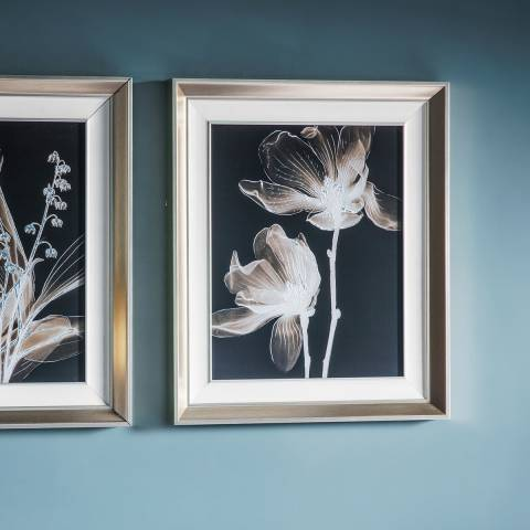 Gallery Negative Floral Framed Art 40 x 4.7 x 50cm