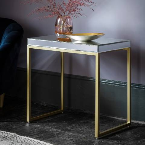 Gallery Champagne Pippard Side Table