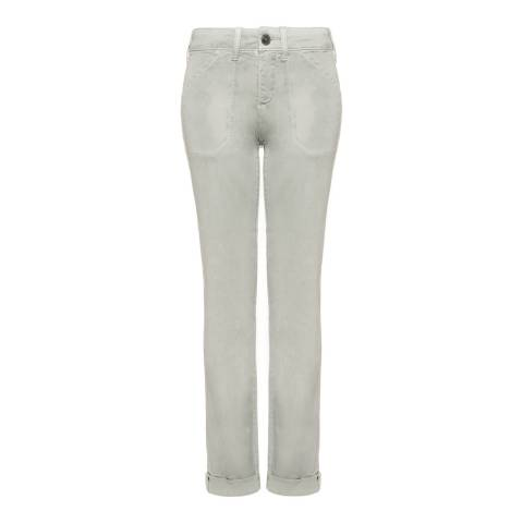 NYDJ Pale Grey Reese Boyfriend Cotton Stretch Jeans