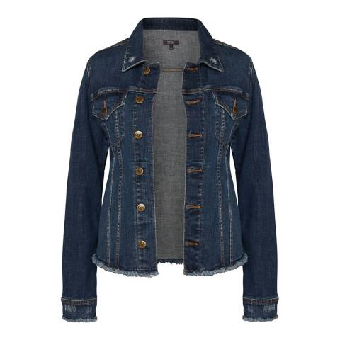 NYDJ Mid Blue Cotton Blend Denim Jacket