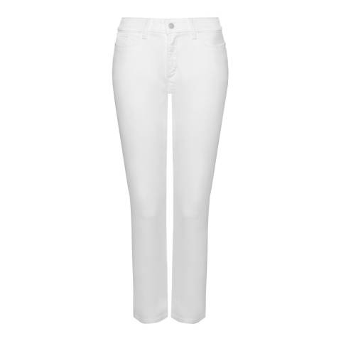 NYDJ White Clarissa Ankle Cotton Stretch Jeans