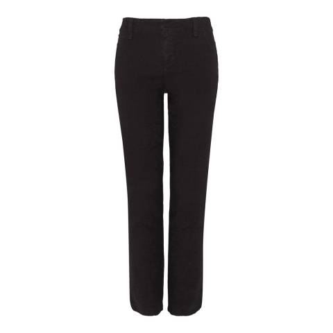 NYDJ Black Straight Leg Cropped Trousers