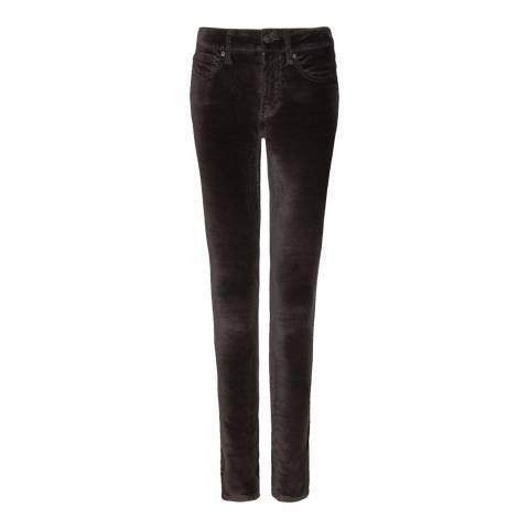 NYDJ Black Marilyn Straight Fit Velvet Jeans