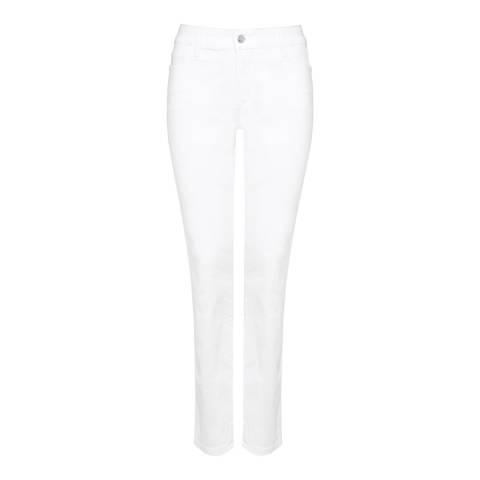 NYDJ White Samantha Slim Cotton Blend Jeans