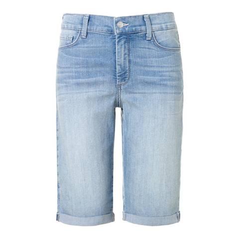 NYDJ Mid Blue Briella Cotton Stretch Shorts