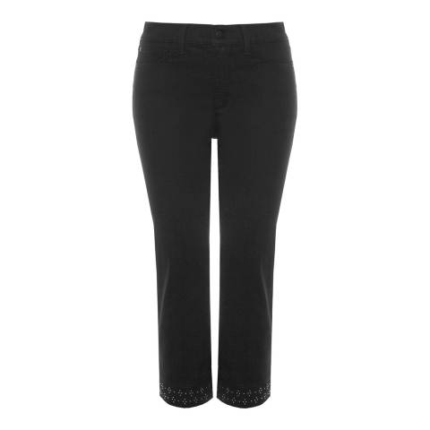 NYDJ Black Ariel Crop Cotton Stretch Jeans