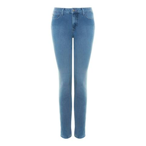 NYDJ Mid Blue Clarissa Ankle Grazer Cotton Stretch Jeans