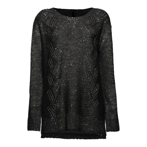 NYDJ Black Sequin Knit Tunic