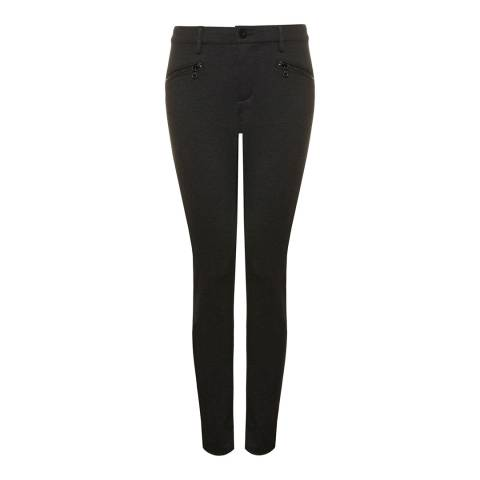 NYDJ Charcoal Zip Skinny Stretch Jeggings