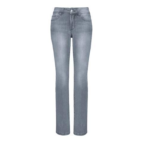 NYDJ Pearl Grey Marilyn Straight Cotton Stretch Jeans