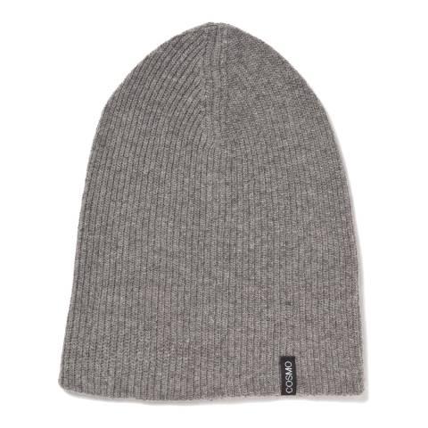 Love Cashmere Light Grey Unisex Cashmere Rib Structure Hat