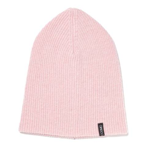 Love Cashmere Pink Unisex Cashmere Rib Structure Hat