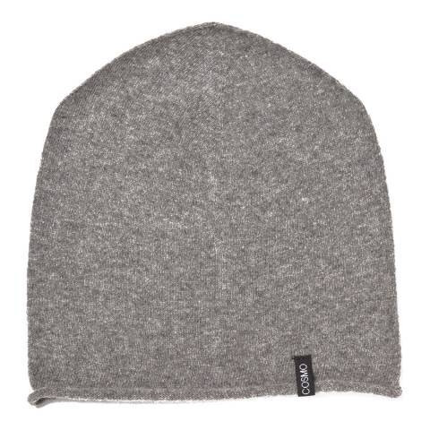 Love Cashmere Light Grey Unisex Cashmere Rolled Hem Hat