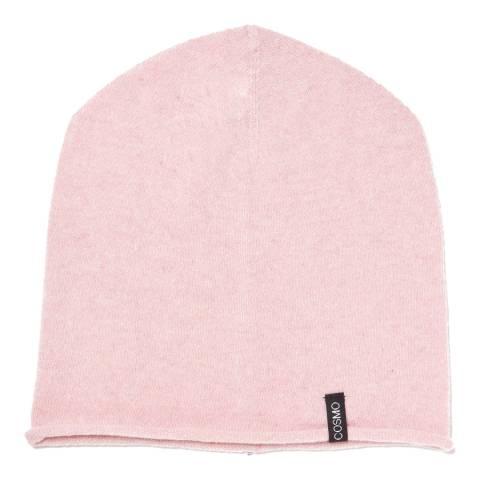 Love Cashmere Pink Unisex Cashmere Rolled Hem Hat