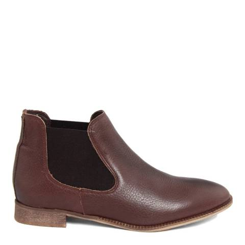 Eye Brown Leather Contrast Gusset Chelsea Boot