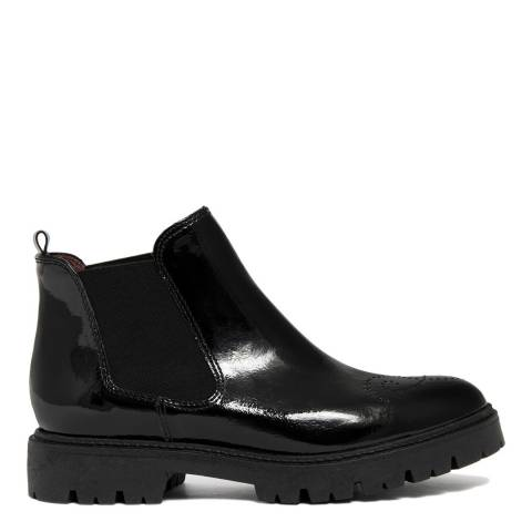 EJE Black Patent Leather Chunky Sole Chelsea Boot