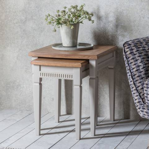 Gallery Bronte Nest of 2 Tables, Taupe